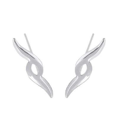 Un par de trepadores de plata con forma
