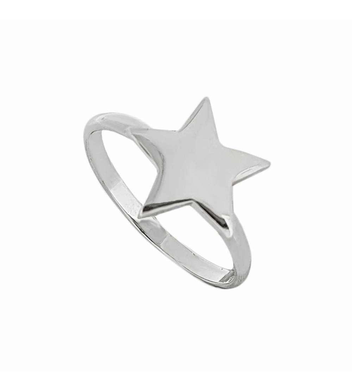 Anillo de plata con estrella