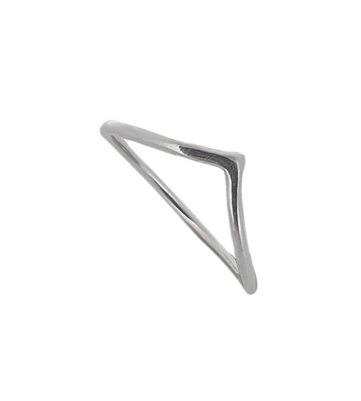 Anillo de plata con forma de pico para combinar
