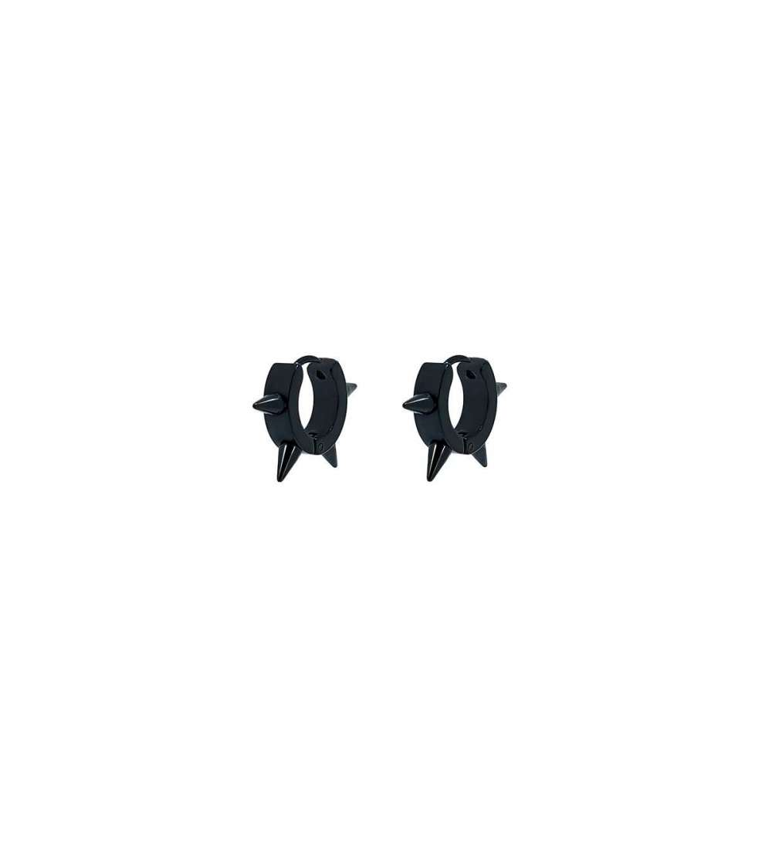 Pack3 pares de pendientes de Aro con pinchos 4x9 m