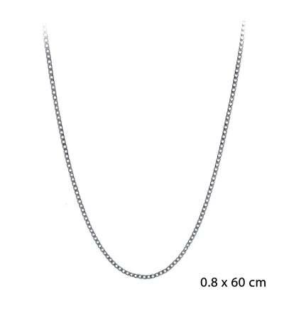 Una cadena de acero barbada 0,80 x 60cm