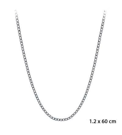 Una cadena de acero barbada de 1,20 x 60 cm