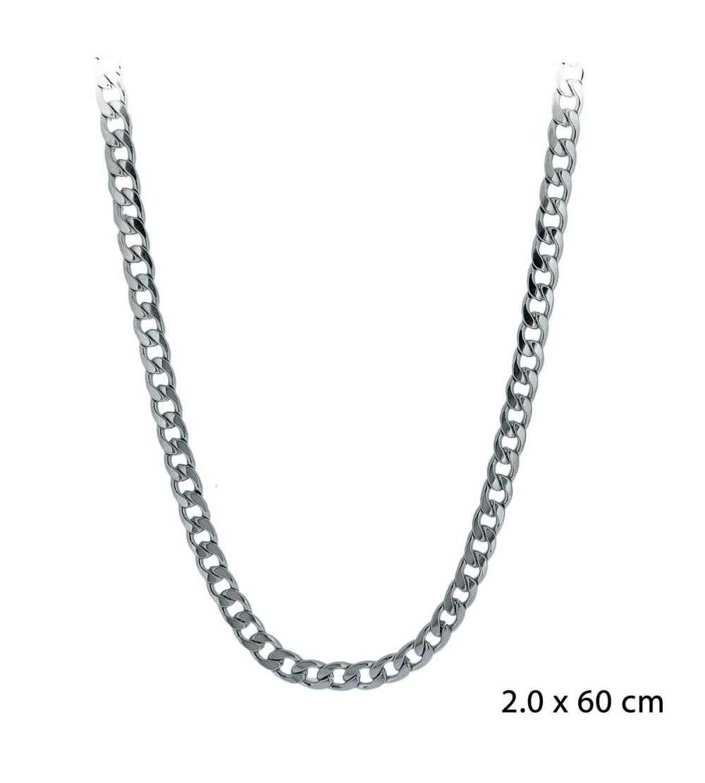 Una cadena de acero barbada de 2,00 x 60 cm