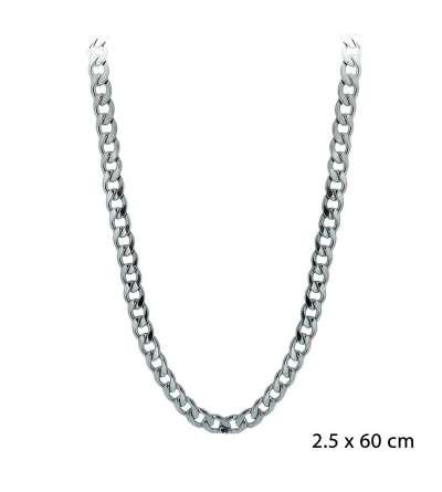 Una cadena de acero barbada de 2,50 x 60 cm