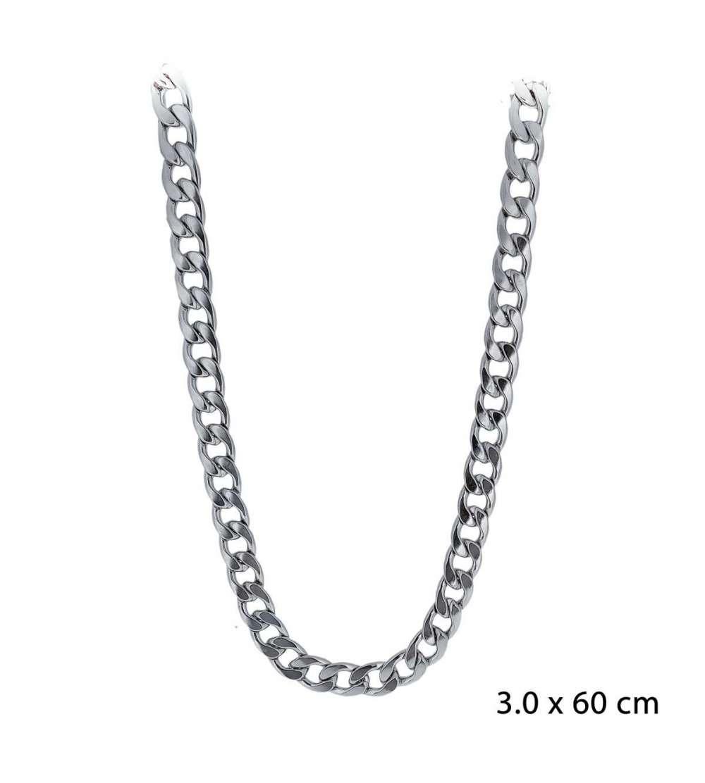 Una cadena de acero barbada de 3.00 x 60 cm