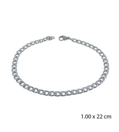 Una pulsera de acero barbada de 1,00 X 22 cm
