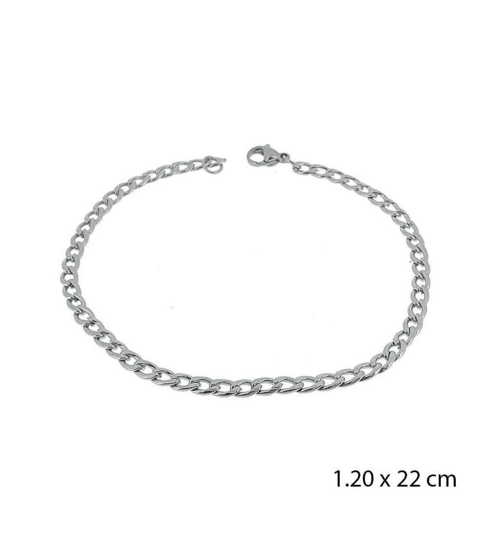 Una pulsera de acero barbada 1,20 X 22 cm