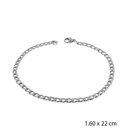 Una pulsera de acero barbada 1,60 X 22 cm