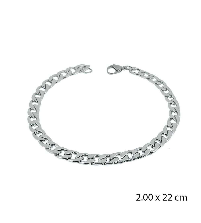 Una pulsera de acero barbada 2,00 X 22 cm