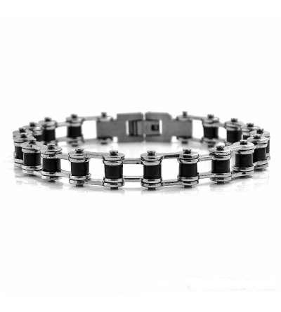 Una pulsera de acero cadena de bici